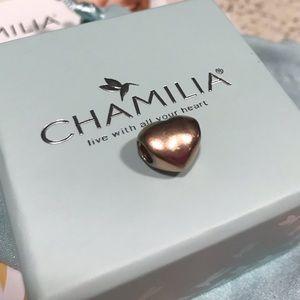 Chamilia Blush Heart, Rose Gold Charm